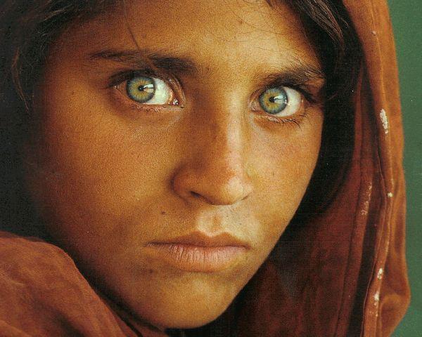 Volto di donna afgana