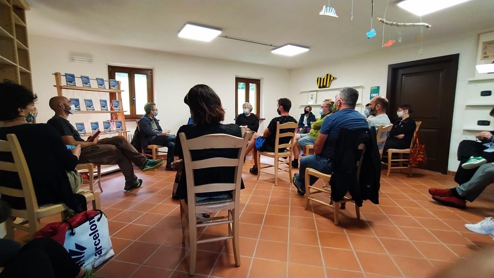 Un momento dell'incontro al rifugio Masetto