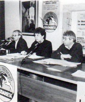 Rovereto, 1990. Convegno sul lavoro di Solidarietà