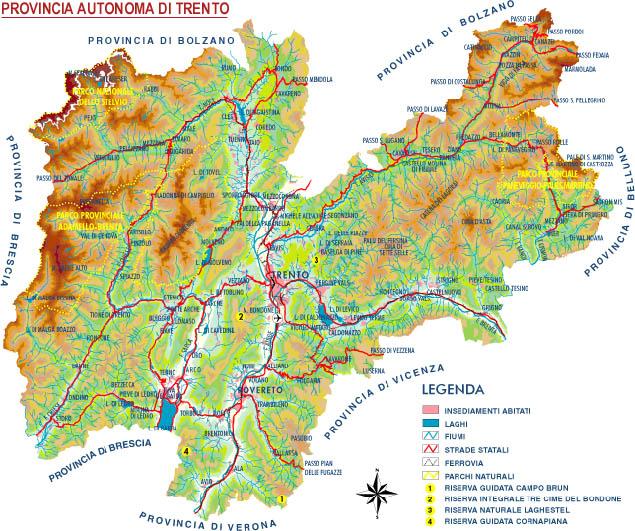 Trentino Alto Adige Cartina Fisica E Politica.Cartina Trentino Imagui