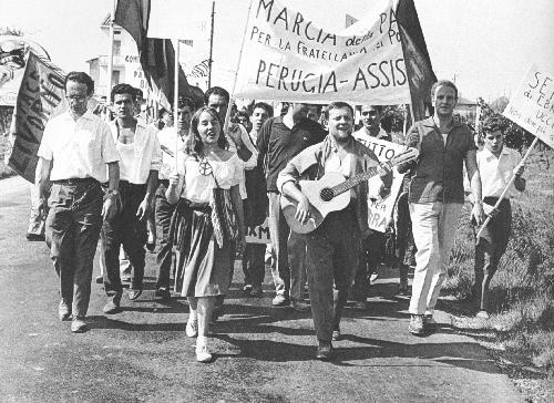 La prima marcia Perugia Assisi