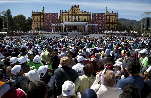 San Cristobal de las casas, l\'incontro con papa Francesco