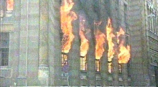 La Vjiesnica in fiamme