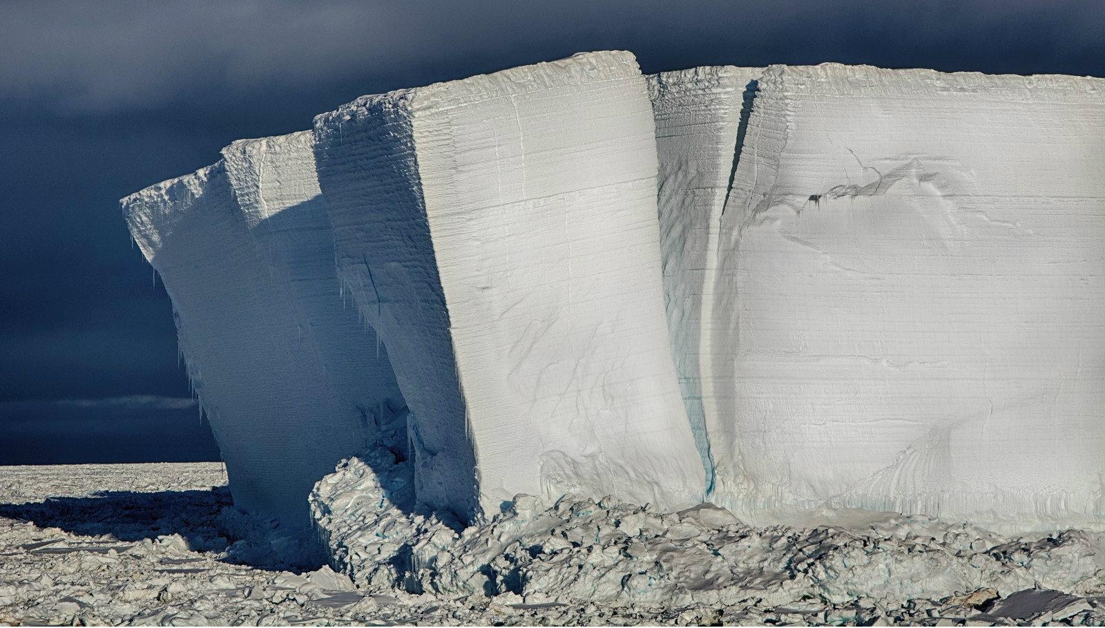 I segni dello scioglimento dell'Antartide