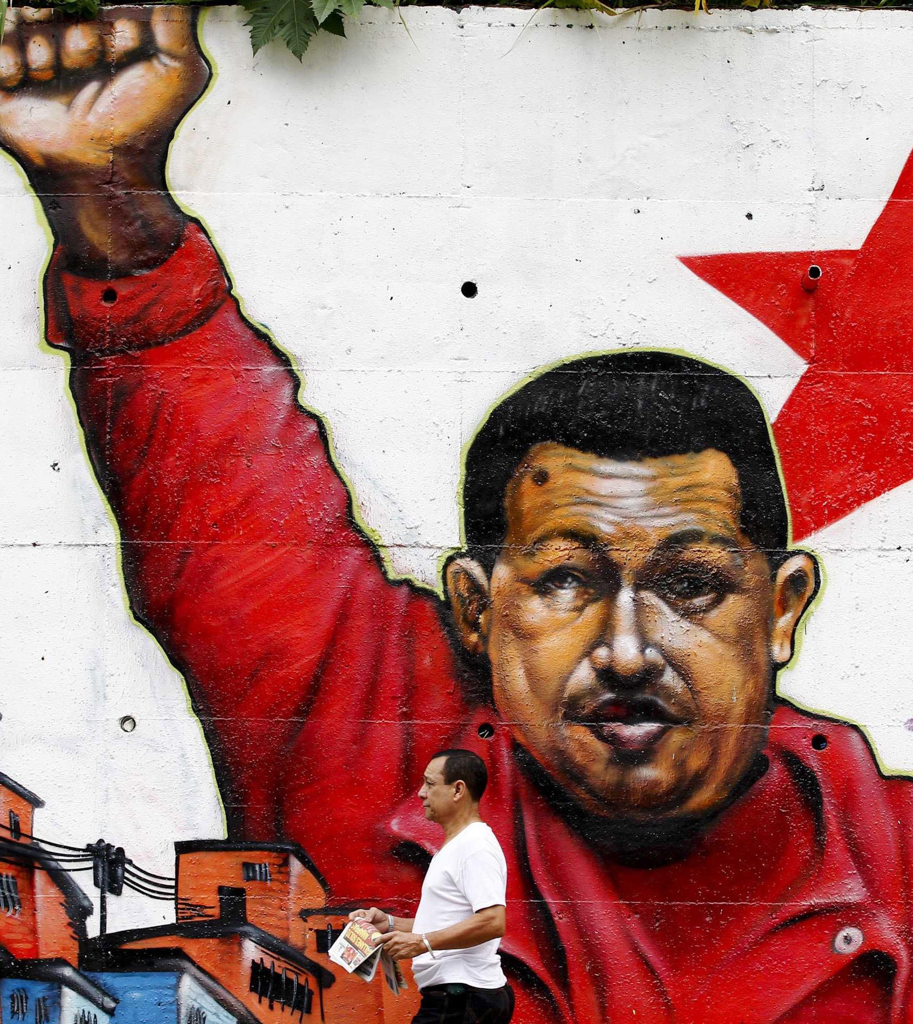 Venezuela, un murales chavista