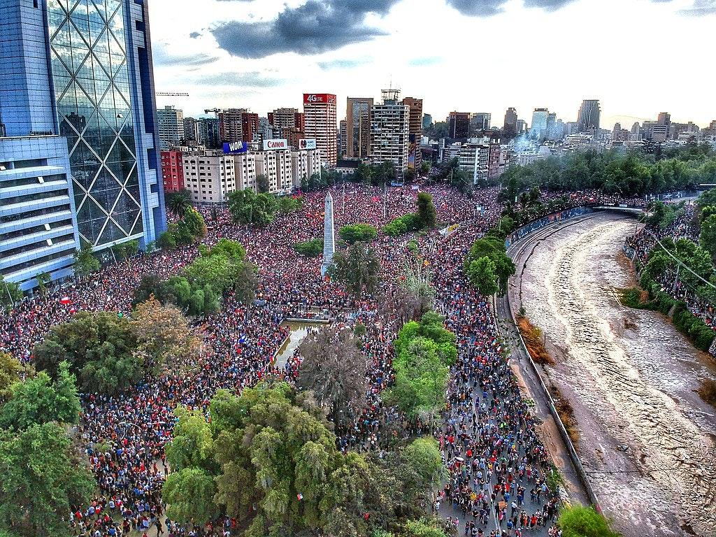 Manifestazione in Cile
