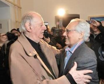 Dario Fo con Enzo Jannacci