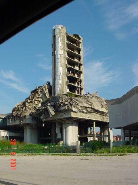 Sarajevo, la sede del quotidiano Oslobodjenje