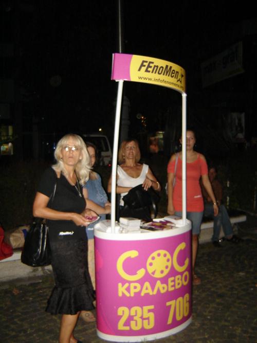 il telefono antiviolenza di Kraljevo