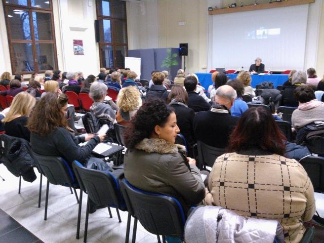 Padova, 2015. Un momento di formazione con gli insegnanti nell'ambito del WSA