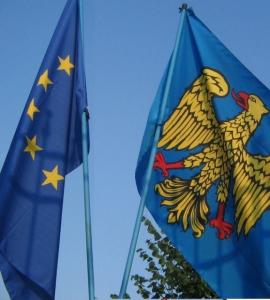 Bandiere del Friuli e dell'Europa