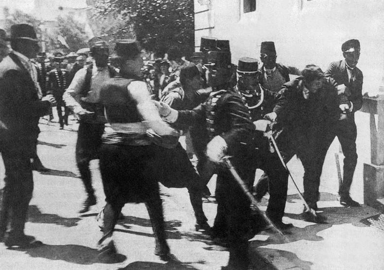 28 giugno 1914. l\'arresto di Gavrilo Prinzip a Sarajevo