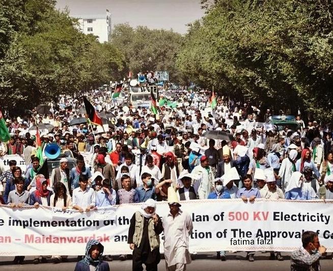 Un'immagine delle grandi manifestazioni pacifiche di Kabul