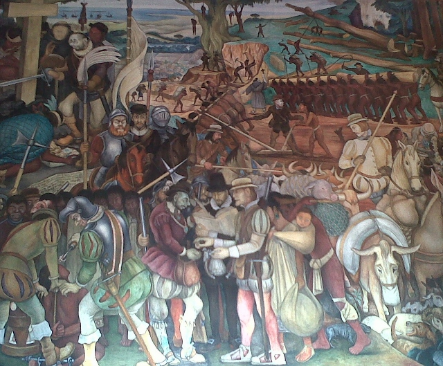 Città del Messico. La storia della conquista. Palazzo Municipale.