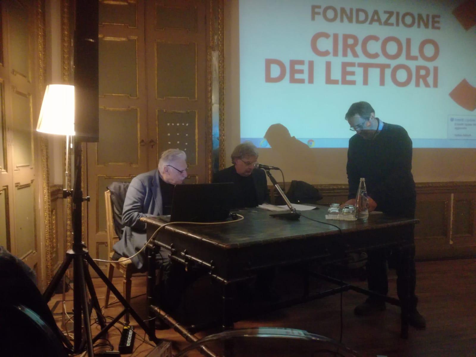 Un'immagine della presentazione a Torino con Marco Revelli