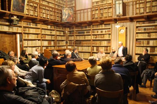 L'incontro con Wajeeh Nuseibeh nella biblioteca dei frati Capuccini a Trento