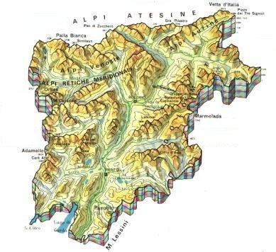 mappa del Trentino