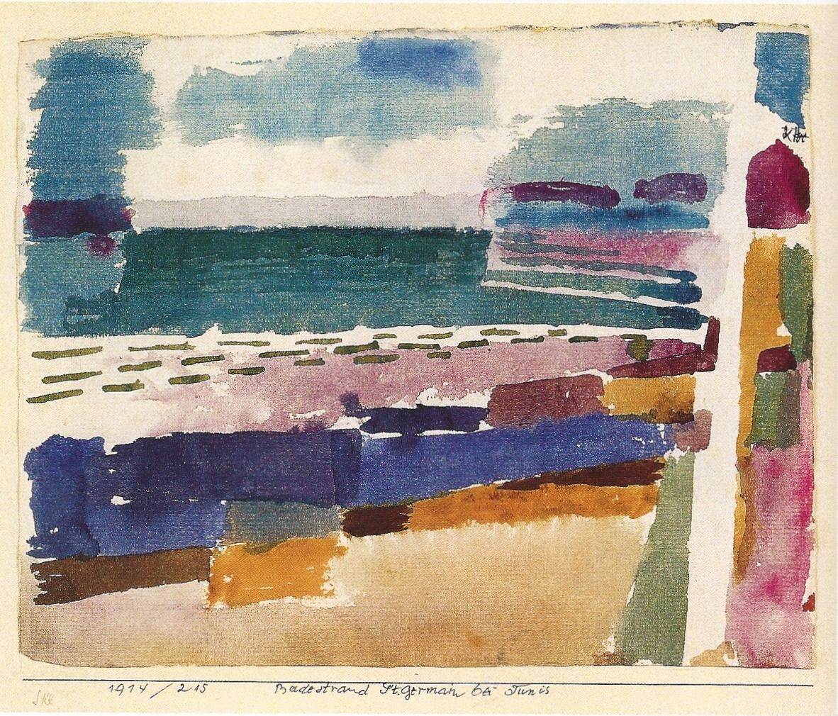 La plage di St. Germaine. Paul Klee