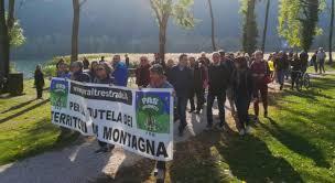 Manifestazione per la difesa del territorio montano in Friuli
