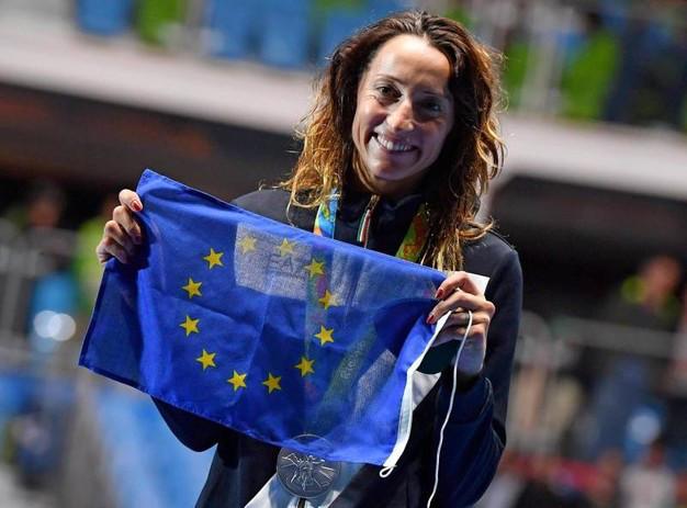 Elisa Di Francisca sul podio a Rio