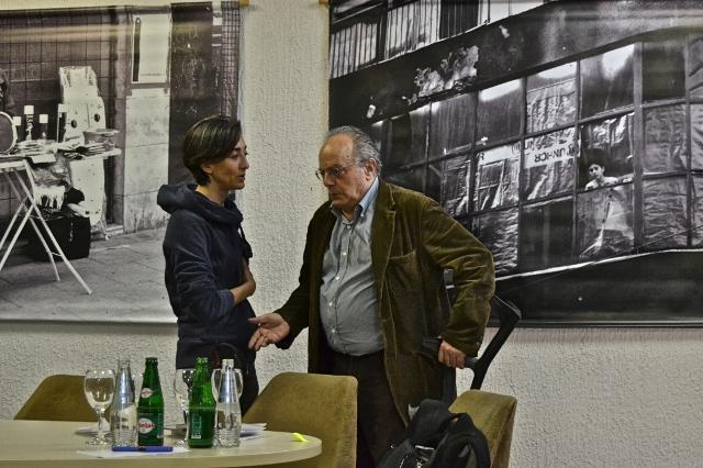 Sarajevo, 5 aprile 2012, Piero Del Giudice e Nicole Corritore (Foto © Tullio Bugari )