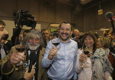 Salvini al Vinitaly