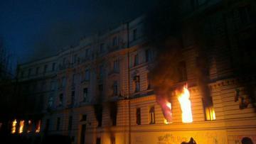 Un\'immagine degli incidenti a Sarajevo