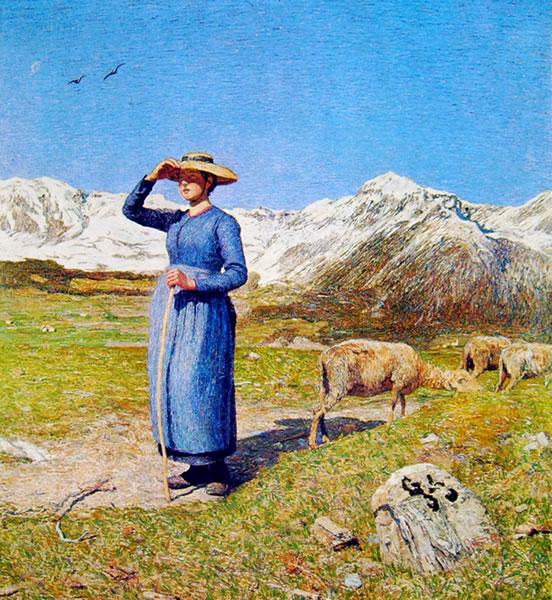 Segantini, Mezzogiorno sulle Alpi
