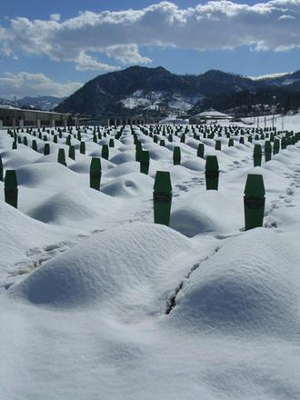 Il cimitero di Potocari, Srebrenica