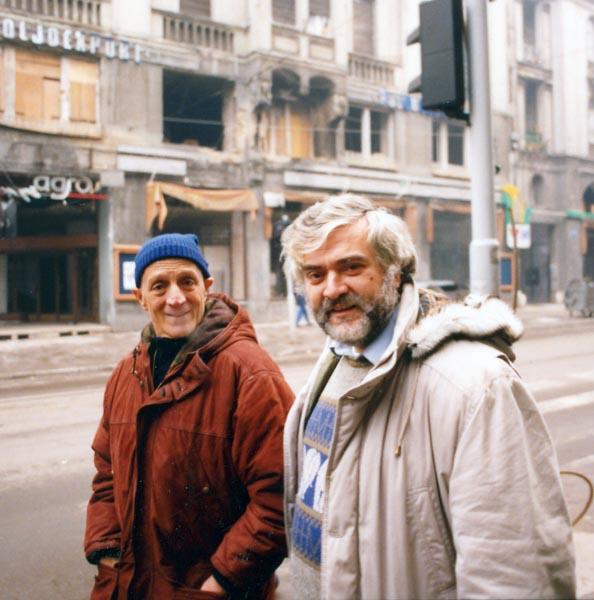Eugenio Melandri con Tonino Bello a Sarajevo
