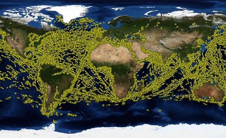 Il traffico navale nel mondo