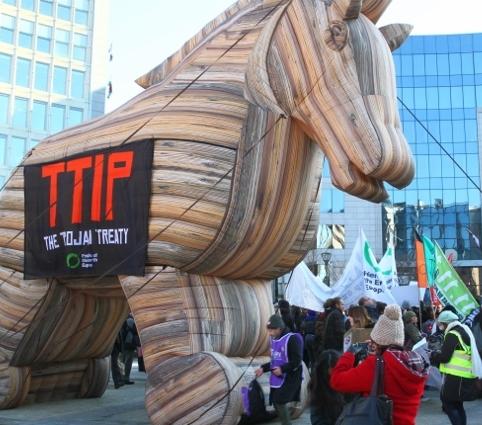 Manifestazione contro il Ttip in Europa