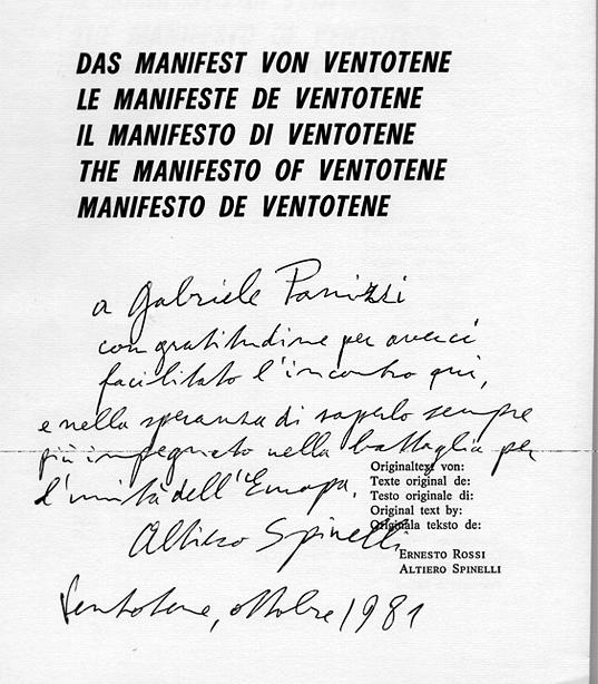 Dedica di Altiero Spinelli