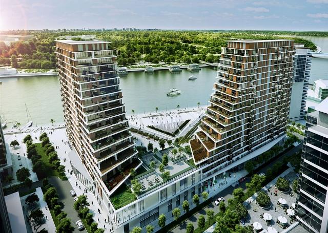 Il rendering del Belgrade Waterfront Residence