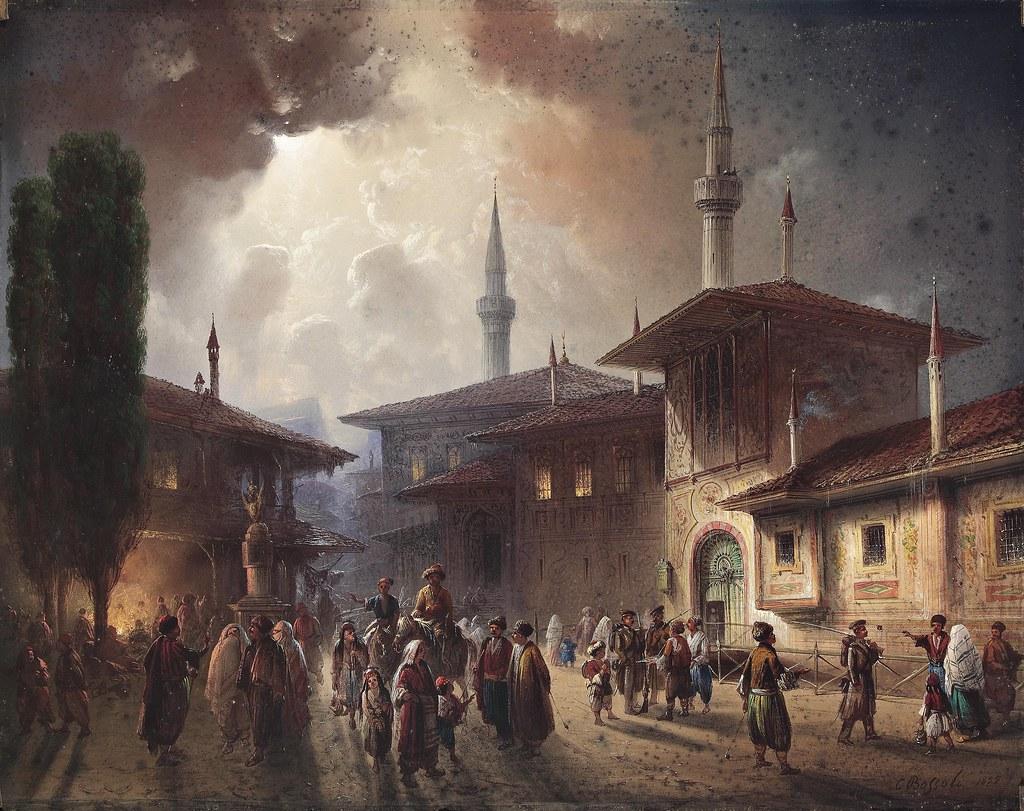 Istanbul. Disegno Carlo Bossoli