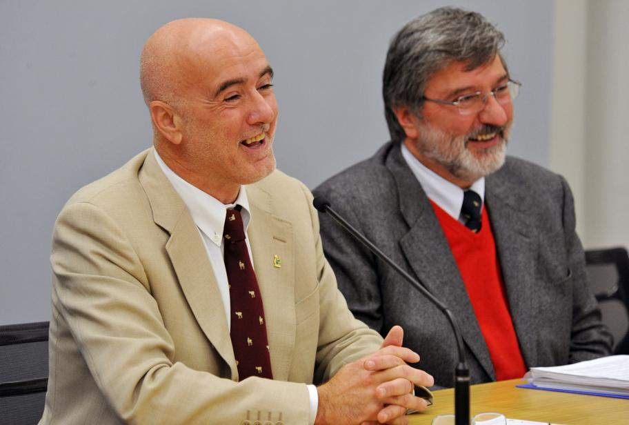Osvaldo Dongilli con Alberico Rigoni Stern